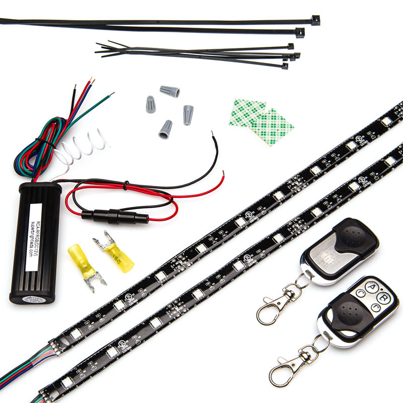 Motorcycle engine color changing rgb led lighting kit strip modules 1 maximum number of units in one run end to end for higher quantities multiple runs back to the power supply must be made to prevent excessive voltage aloadofball Images