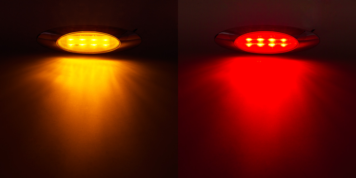 MOC X8 Series Oval Clearance Lamp Available In Amber And Red MOC X8 Series  Oval Clearance Lamp Available In Amber And Red