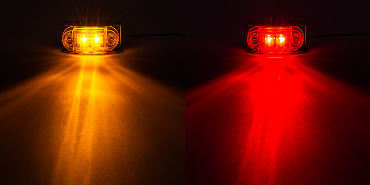 LED Golf Cart Side Clearance Lights   2 1/2u201d: Available In Amber And Red