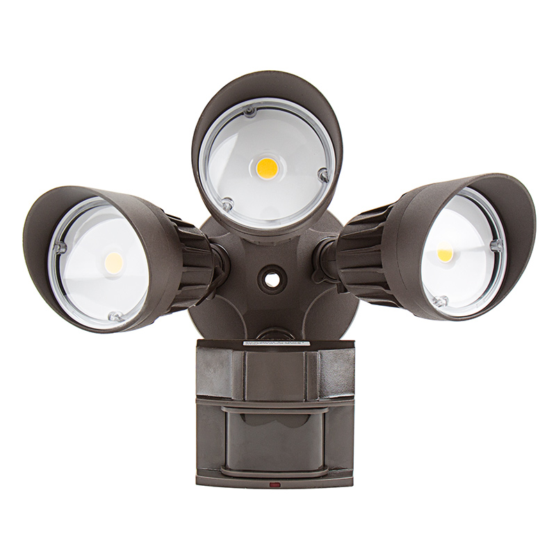 Led motion sensor light 3 head security light 30w 2450 lumens led motion sensor light 3 head security light 30w front view aloadofball Image collections