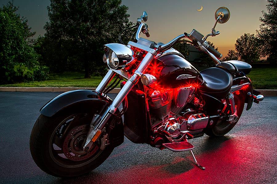 Motorcycle Engine Color Changing Rgb Led Lighting Kit