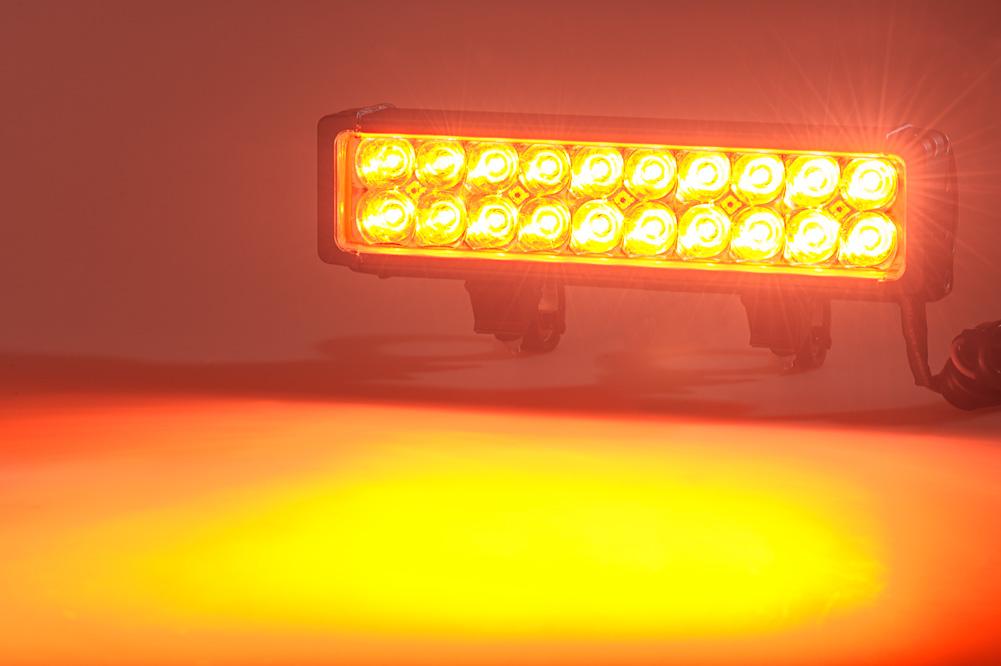 12 Dual Row Heavy Duty Off Road Amber LED Light Bar 60W Specialty H