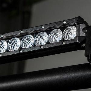 43 compact off road led light bar 93w 6552 lumens super 43 compact off road led light bar 117w mounted with universal mounting bracket clamp modled modcl aloadofball Choice Image