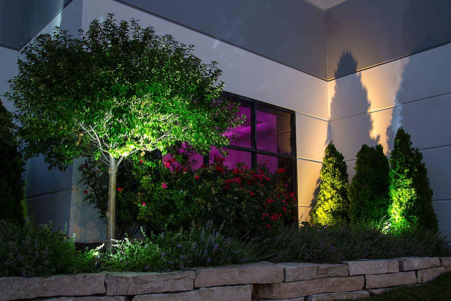 1w led landscape spotlight 5 watt equivalent 45 lumens super 1w led landscape spotlight white installed in commercial business landscape workwithnaturefo