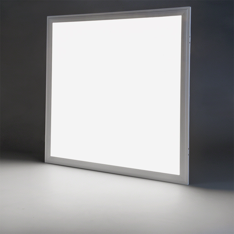 40w led panel light fixture 2ft x 2ft shown on in natural white