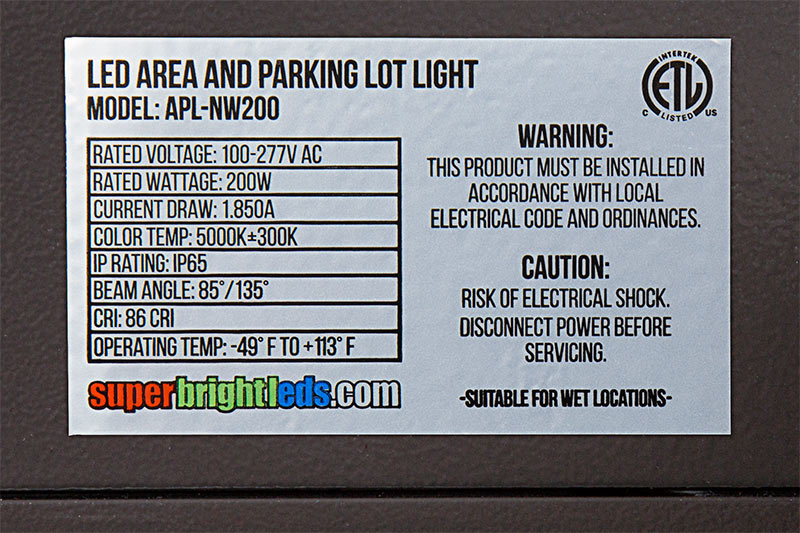 Wiring Diagram Parking Lot Lights : Volt led parking lot light autos post