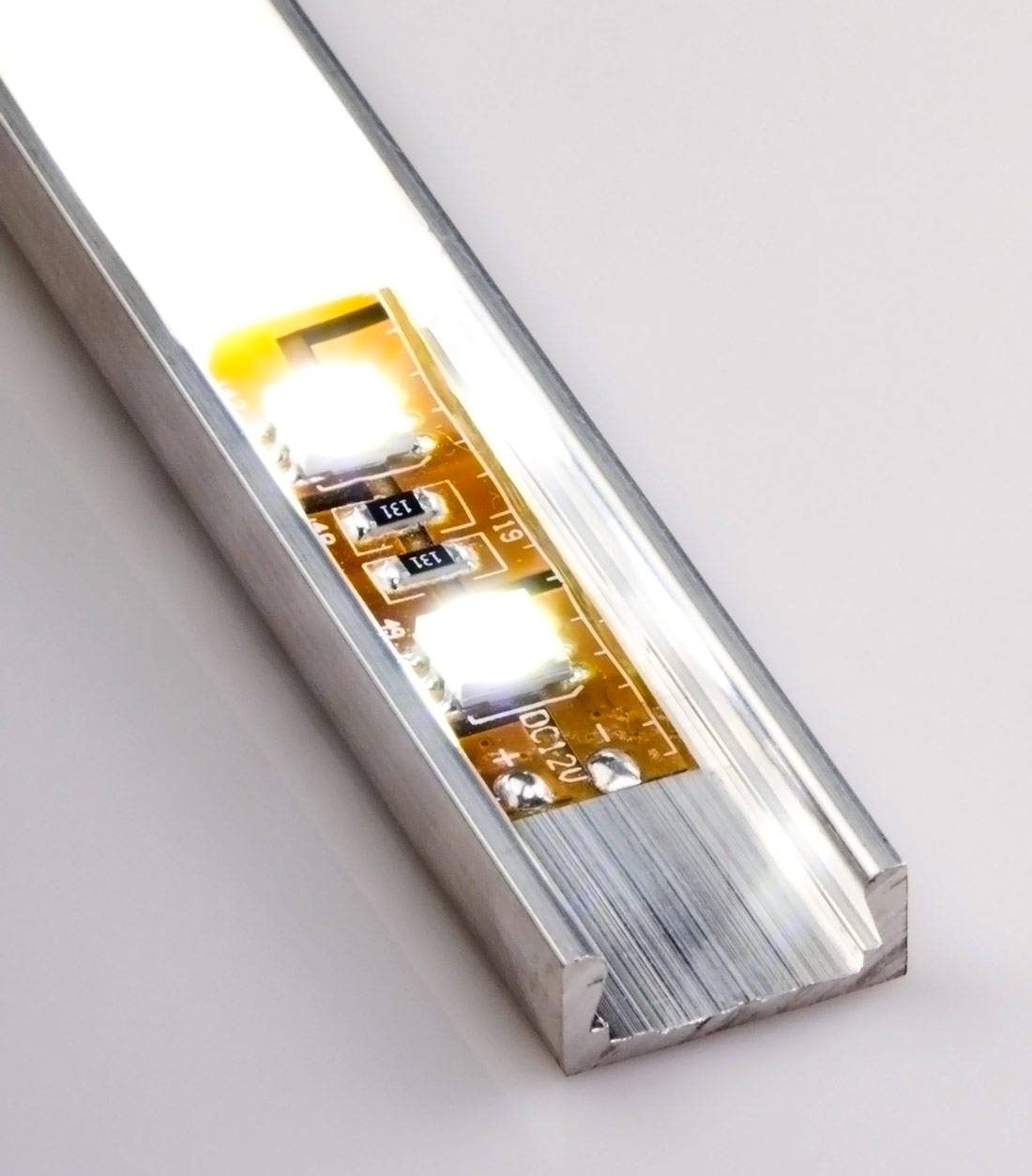 Low Profile Surface Mount Led Housing For Strip Lights Wiring Channel Aluminum Micro Alu Series With Illuminated Flexible Light Not Included And Standard Frosted Lens