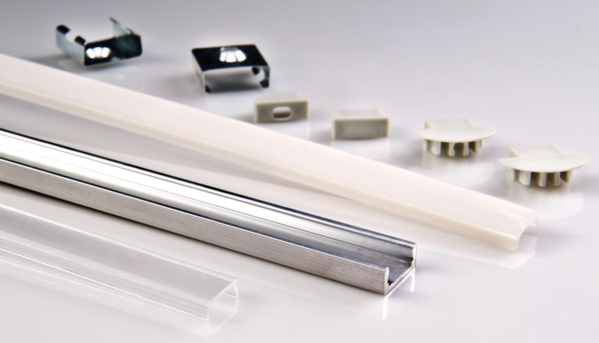 Aluminum surface mount led profile housing micro alu series led light strip bar accessories - Profile alu led ...