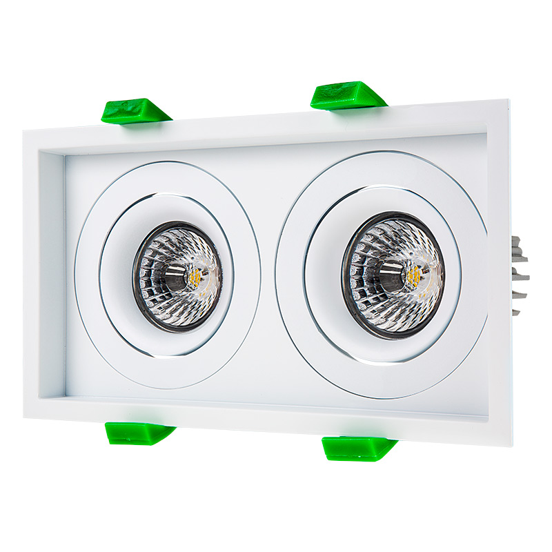 LED Recessed Light Engine - Dual Square 98mm Gimbal Trim - 8 Watt COB LED  sc 1 st  Super Bright LEDs & LED Recessed Light Engines w/ Dual Square 98mm Aimable Trim - 70 ... azcodes.com