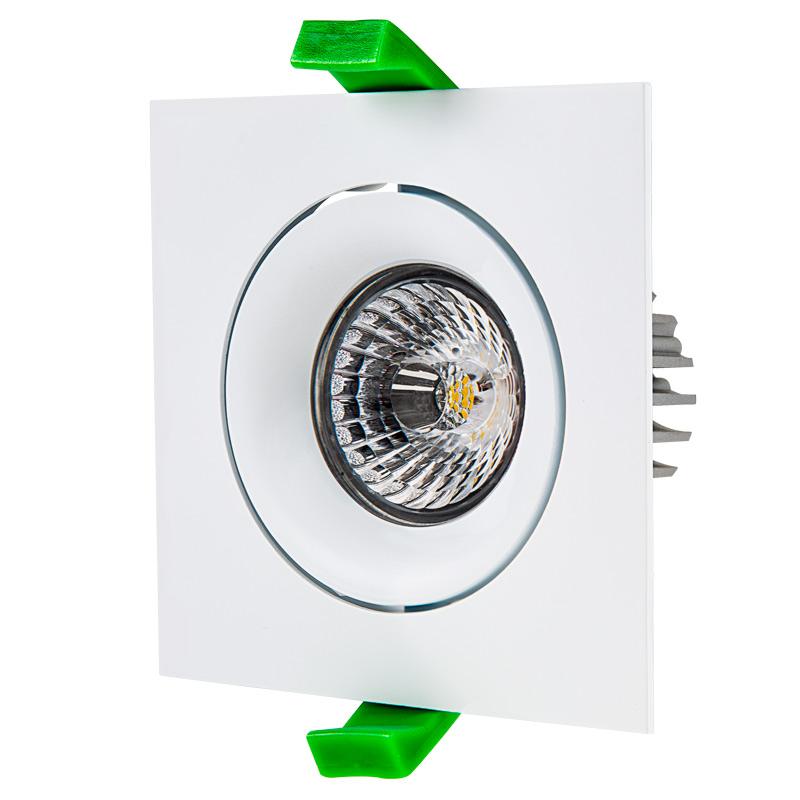 LED Recessed Light Engine W Square 90mm Aimable Trim 70 Watt Equivalent