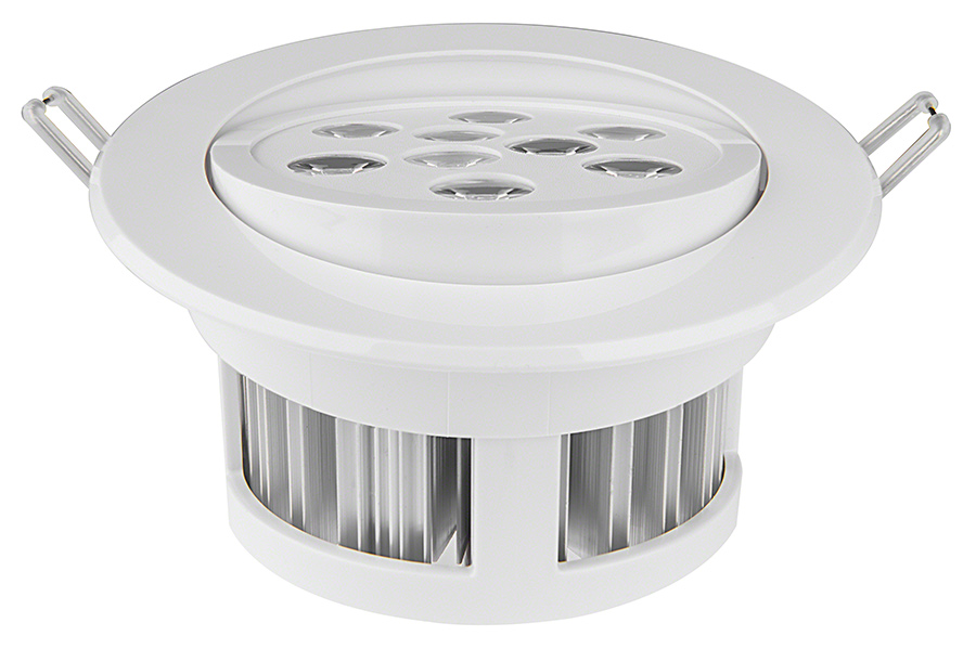 LED Recessed Light Fixture - Aimable and Dimmable - 60 Watt ...