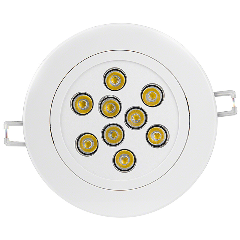 Led recessed light fixture aimable and dimmable 60 watt 9 watt led recessed light fixture aimable and dimmable face view mozeypictures Images