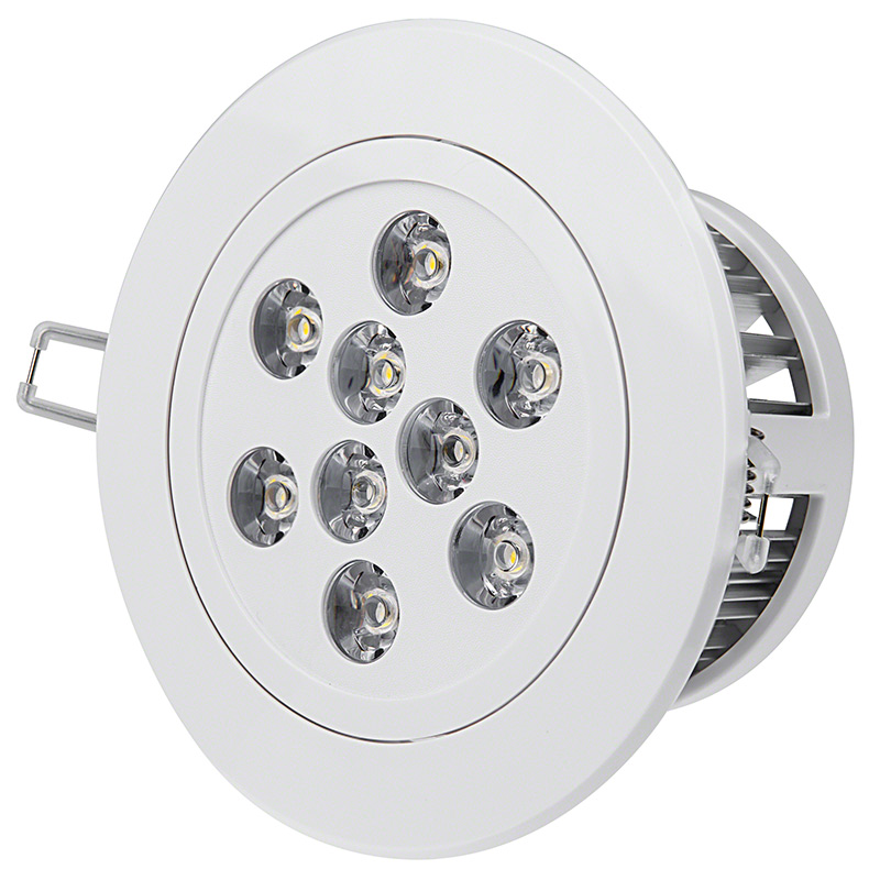 Led recessed light fixture aimable and dimmable 60 watt 9 watt led recessed light fixture aimable and dimmable 360 view aloadofball Choice Image