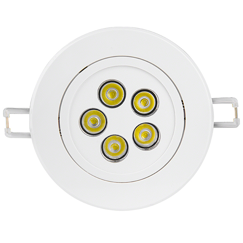 Led recessed light fixture aimable 40 watt equivalent 445 5 watt led recessed light fixture aimable and dimmable face view aloadofball Image collections