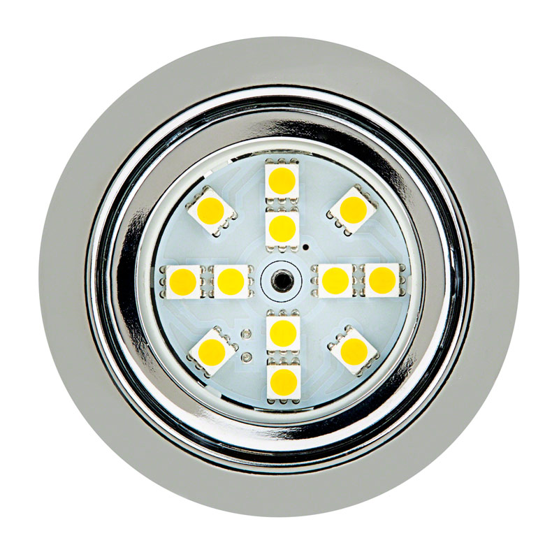 Recessed led puck lights 12 led 20 watt equivalent 170 lumens recessed light fixture 12 led front view aloadofball Gallery