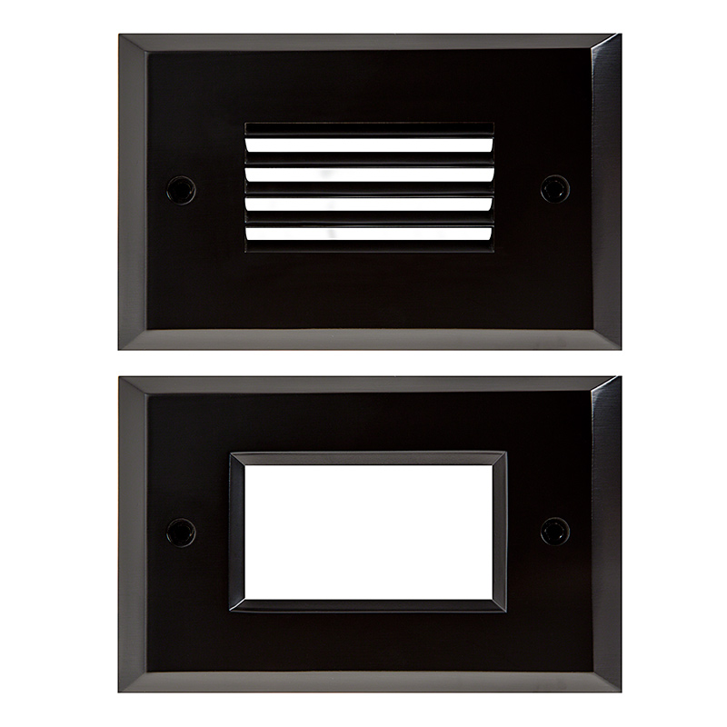 face plate for rectangular led step light open window or. Black Bedroom Furniture Sets. Home Design Ideas
