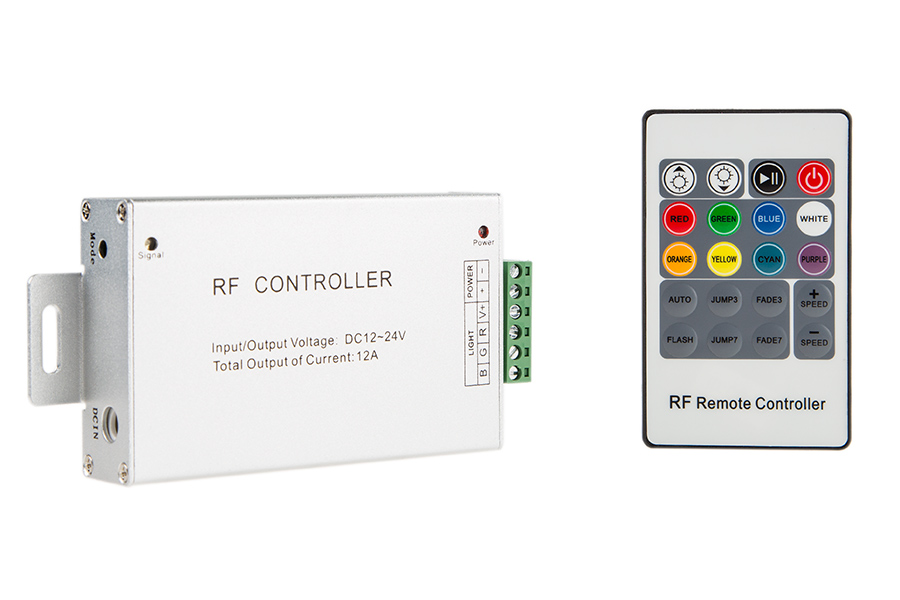 rgb led controller w rf remote dynamic color changing. Black Bedroom Furniture Sets. Home Design Ideas