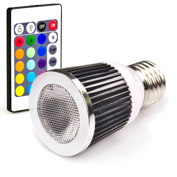 led par16 rgb spot bulb remote sold separately super bright leds. Black Bedroom Furniture Sets. Home Design Ideas