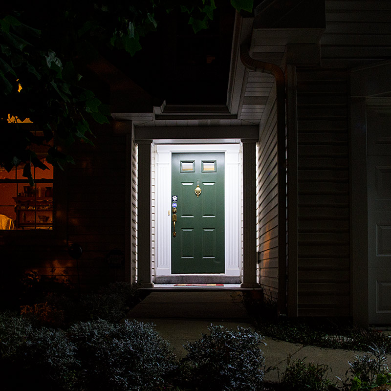 Porch Light Without Electricity: Weatherproof LED Linear Light Bar Fixture