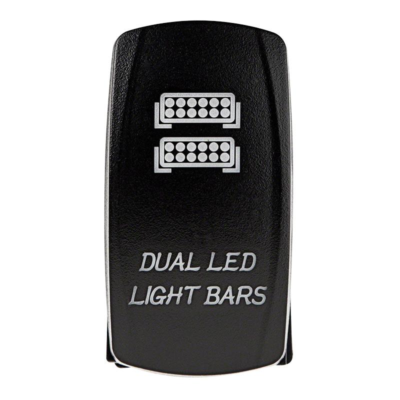 Weatherproof LED Rocker Switch - Dual LED Light Bars Switch ...