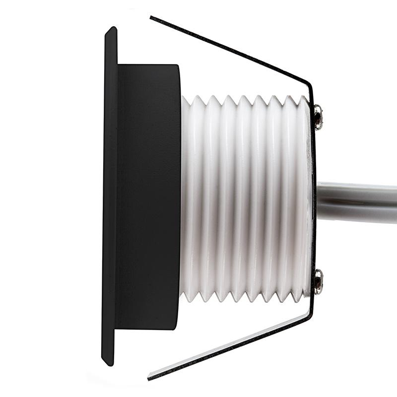 round deck step accent light 1 watt led deck lighting led deck. Black Bedroom Furniture Sets. Home Design Ideas