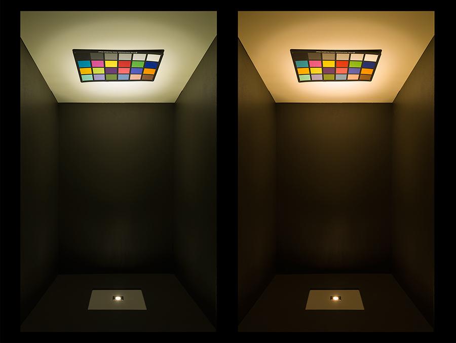 led step lights black 40mm metal trim with hood mini. Black Bedroom Furniture Sets. Home Design Ideas