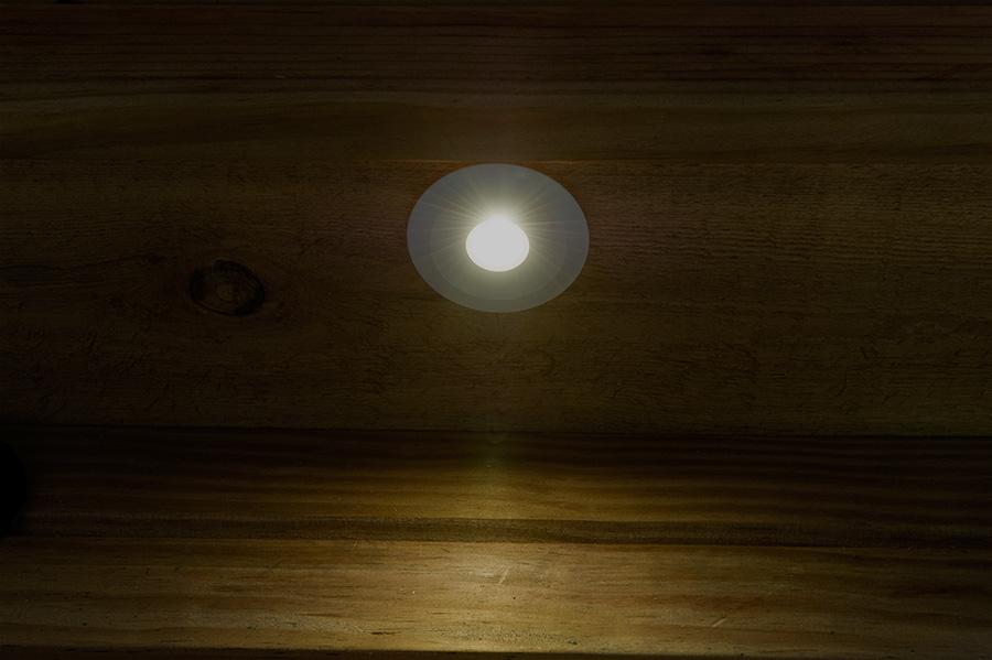 Led step lights white 70mm metal trimmed mini round deck for Small led landscape lights