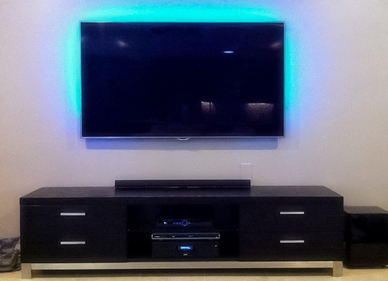 Led Wall Tv Pics : LEDs - LED Tape Light with 9 SMDs/ft. - 3 Chip RGB SMD LED 5050  LED ...