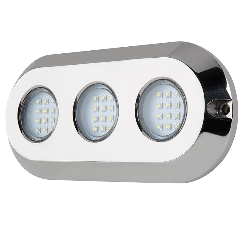 LED Underwater Boat Lights And Dock Lights   Triple Lens   180W