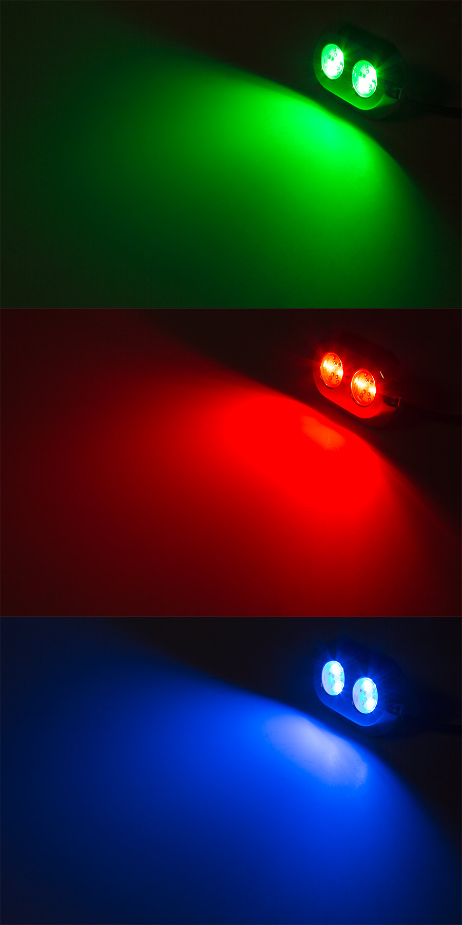 rgb led underwater boat lights and dock lights - double lens, Reel Combo