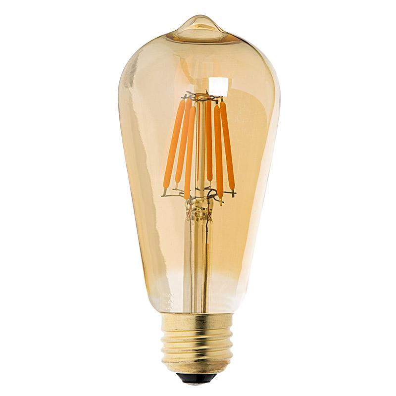 st18 led filament bulb gold tint vintage light bulb 35. Black Bedroom Furniture Sets. Home Design Ideas