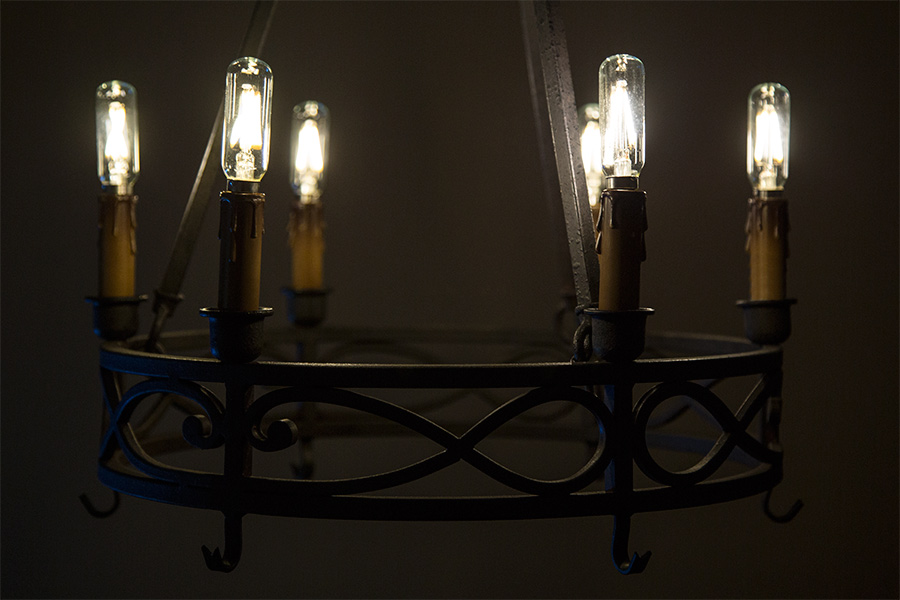 T8 led filament bulb 20 watt equivalent candelabra led vintage led vintage light bulb t8 shape radio style candelabra led bulb with filament led shown installed in vintage chandelier aloadofball Images