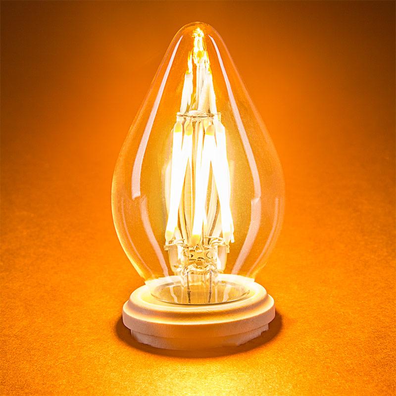 f15 led filament bulb 40 watt equivalent led chandelier bulb w blunt tip dimmable 365. Black Bedroom Furniture Sets. Home Design Ideas