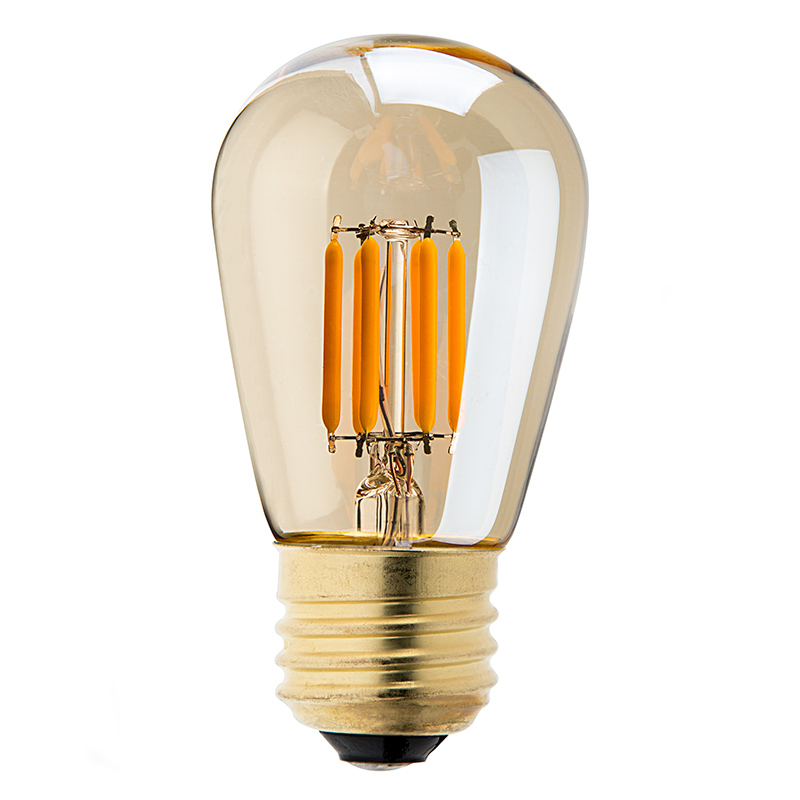 led vintage light bulb s14 led sign bulb w gold tint 25 watt equivalent filament led. Black Bedroom Furniture Sets. Home Design Ideas