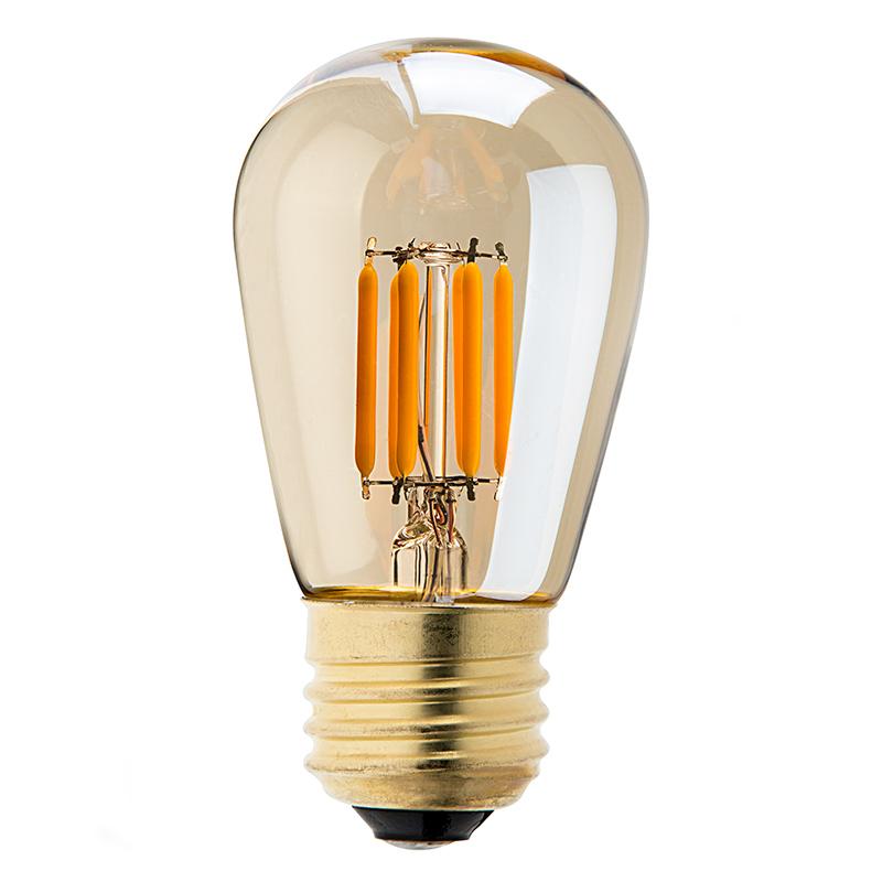 led vintage light bulb s14 led sign bulb w gold tint. Black Bedroom Furniture Sets. Home Design Ideas