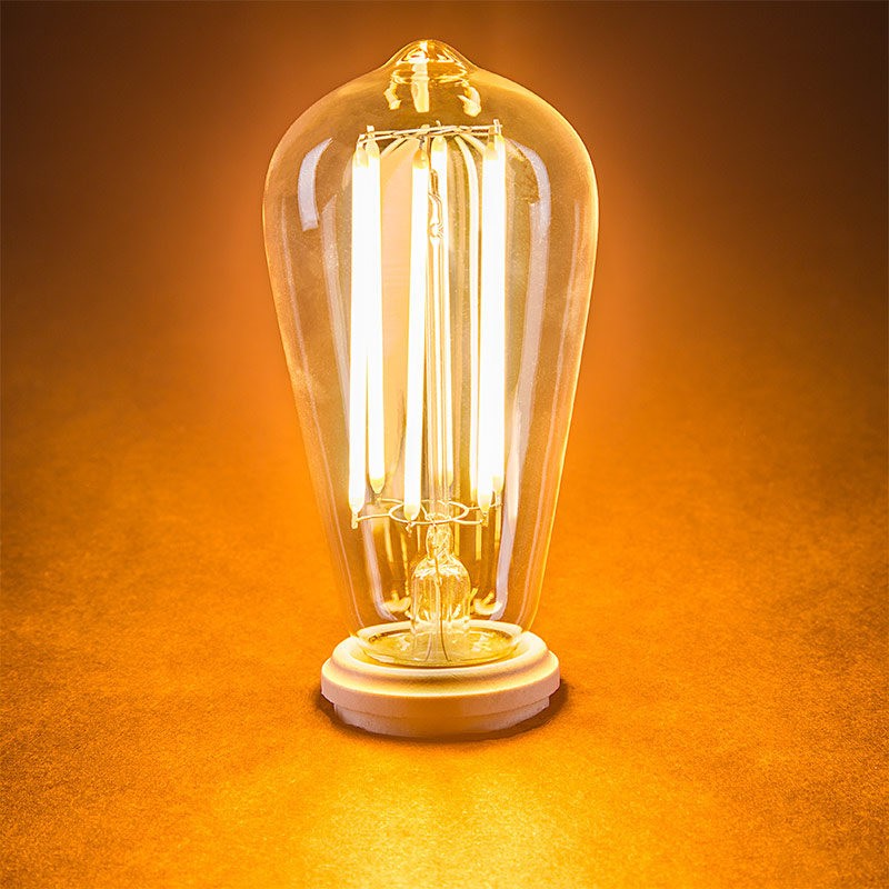 ST18 LED Filament Bulb - 55 Watt Equivalent Vintage Light Bulb ...:LED Vintage Light Bulb - ST18 LED Bulb w/ Filament LED - Dimmable: Turned,Lighting
