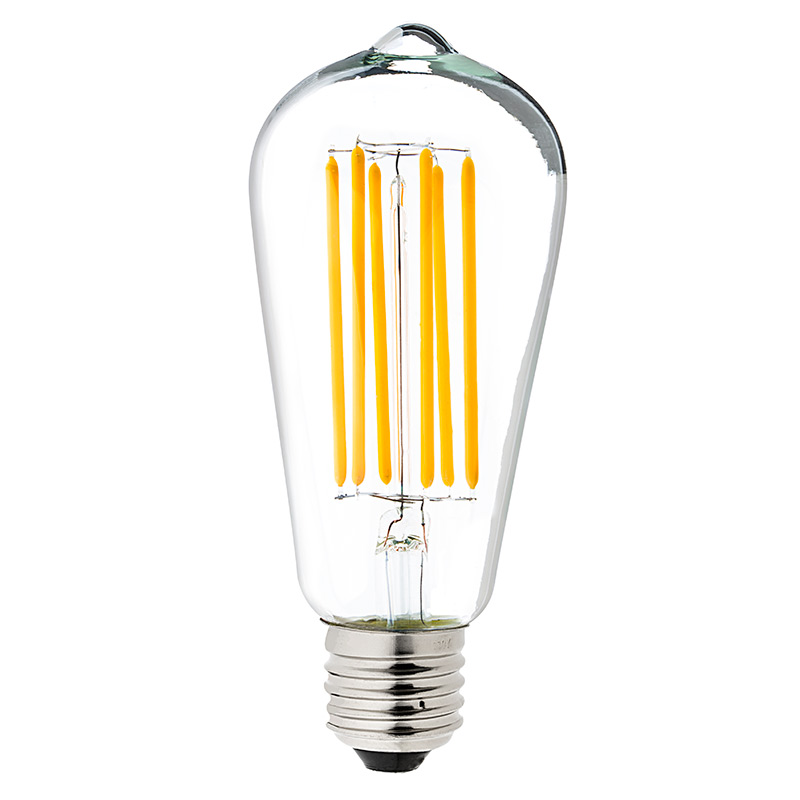 st18 led filament bulb 55 watt equivalent vintage light. Black Bedroom Furniture Sets. Home Design Ideas