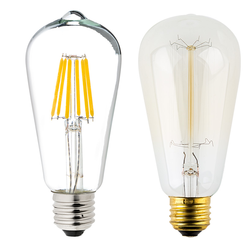 st18 led filament bulb 40 watt equivalent vintage light bulb 12v dc 350 lumens super. Black Bedroom Furniture Sets. Home Design Ideas