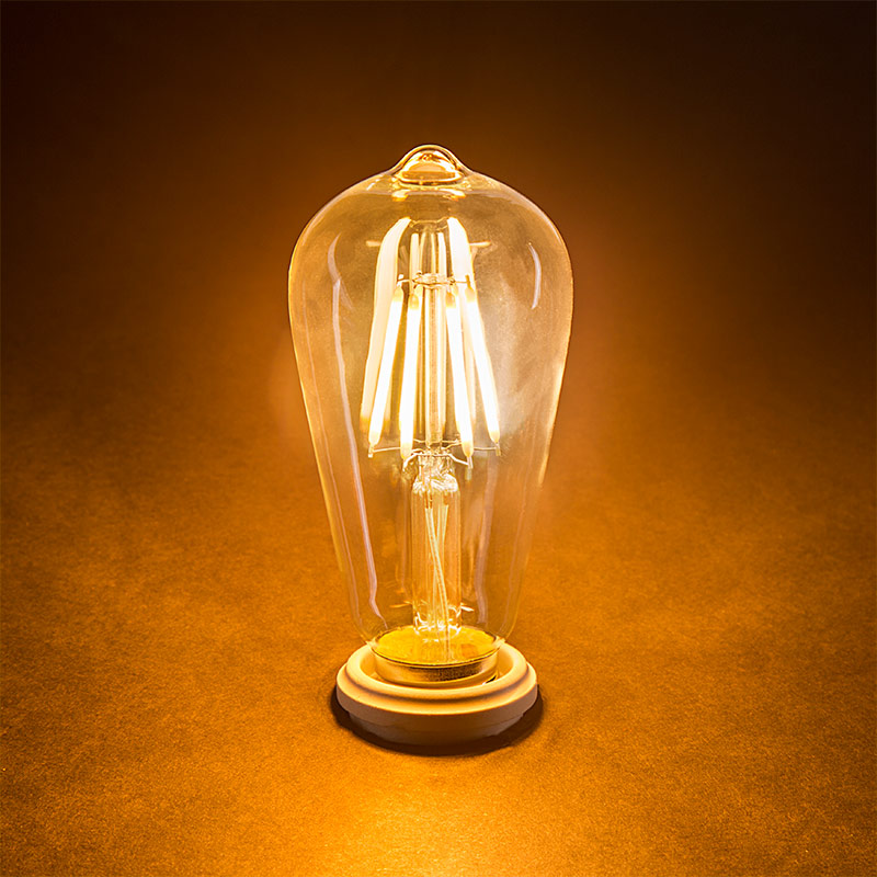 St18 led filament bulb 40 watt equivalent vintage light bulb 12v led vintage light bulb st18 led bulb w filament led 5w dimmable turned on publicscrutiny