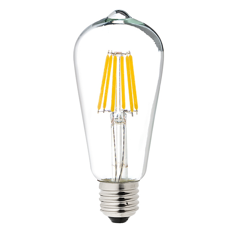 Led vintage light bulb st18 led bulb w filament led 5w
