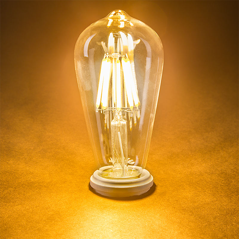 st18 led filament bulb 60 watt equivalent led vintage light bulb