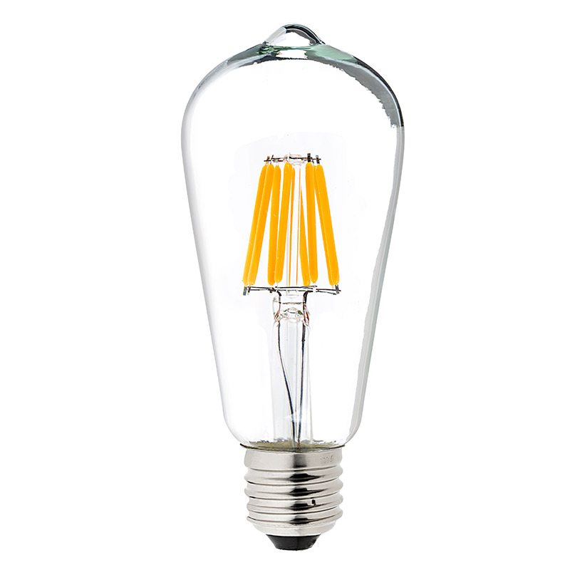 st18 led filament bulb 70 watt equivalent led vintage light bulb dimmable 700 lumens. Black Bedroom Furniture Sets. Home Design Ideas
