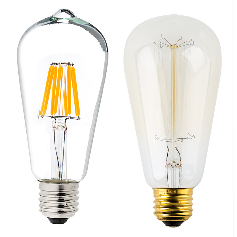 St18 Led Filament Bulb 60 Watt Equivalent Led Vintage Light Bulb Dimmable 700 Lumens Led