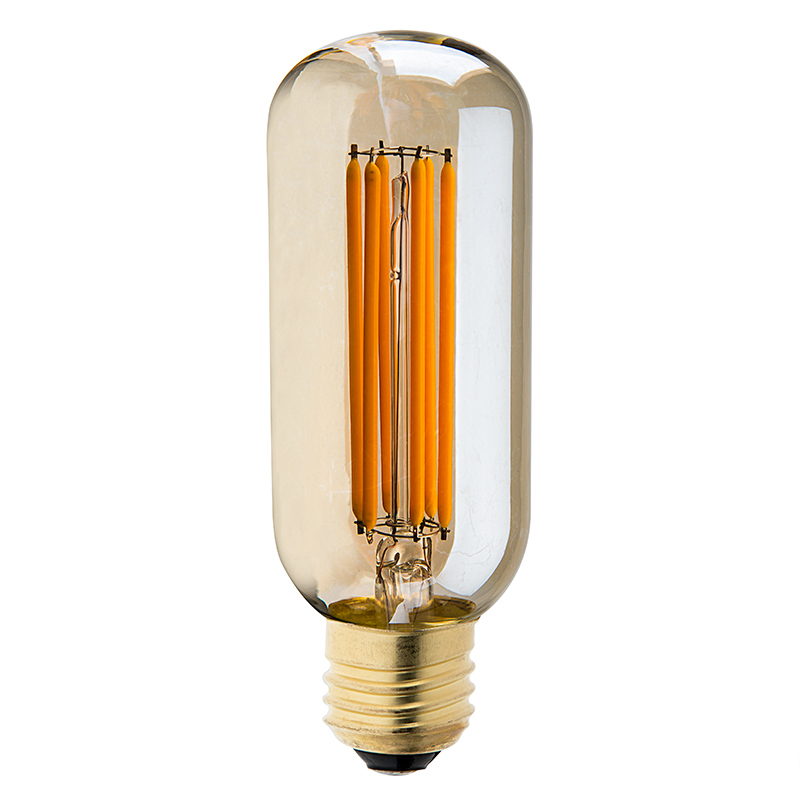 T14 Led Filament Bulb 40 Watt Equivalent Vintage Light Bulb W Gold Tint Radio Style