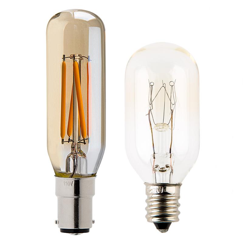 t8 led filament bulb 25 watt equivalent vintage light. Black Bedroom Furniture Sets. Home Design Ideas