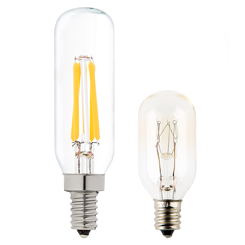 T8 led filament bulb 40 watt equivalent candelabra led vintage light bulb radio style T type light bulb