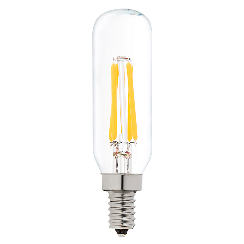 T8 LED Filament Bulb - 40 Watt Equivalent Candelabra LED Vintage ...