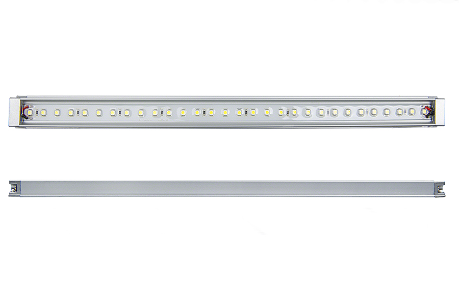 Waterproof linear led light bar fixture 390 lumens super bright leds wlf series high power led waterproof light bar fixture front profile views aloadofball Image collections