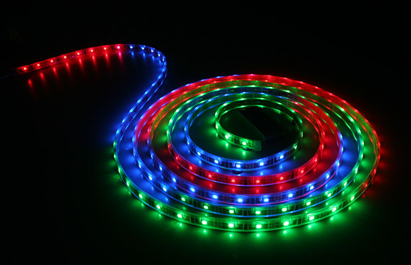 Waterproof color chasing led light strips with multi color leds programmable rgb waterproof flexible led strip aloadofball Image collections