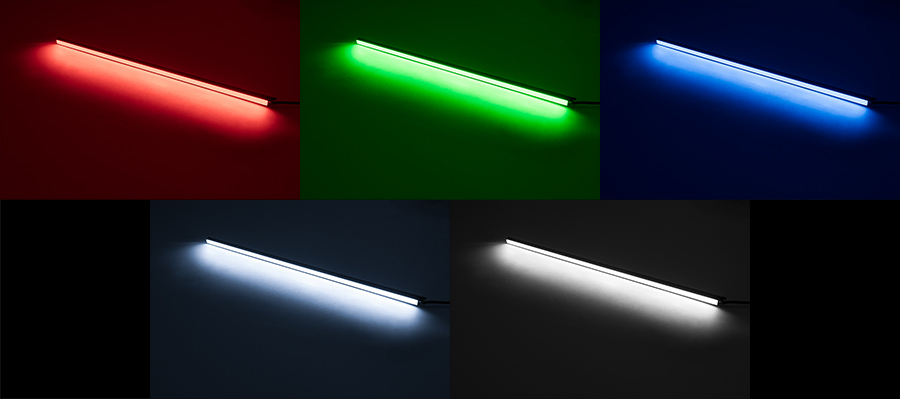 Linear led light bar fixture 360 lumens super bright leds linear led light bar fixture shown on in red green blue natural linear led light bar fixture shown on in red green blue natural white bottom right aloadofball Image collections